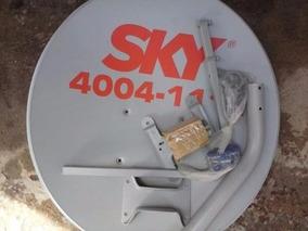 1 Antena Claro Ou Sky 60cm +1 Lnb Duplo Universal +20m Cabo