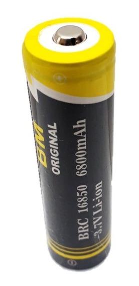 4 Bateria Li-ion Original B-max 3.7v 6800 Mah Lanterna 18650