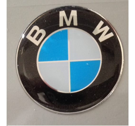 Adesivo Bmw Resinado Motos Carros 2,5 Cm Diametro T3at
