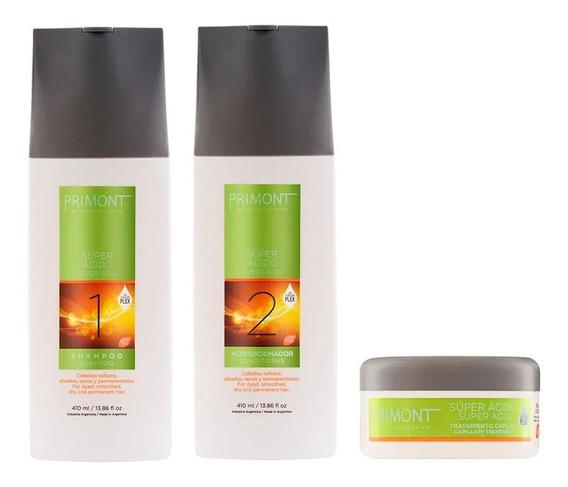 Pack Super Acido Primont Shampoo Acondicionador Tratam