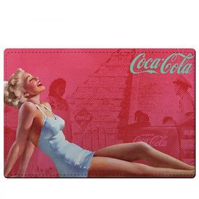 Kit Jogo Americano E Porta Copos Coca Cola Pin Up Vermelho -