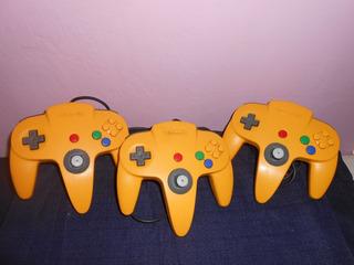 Nintendo 64 Controles Amarillos