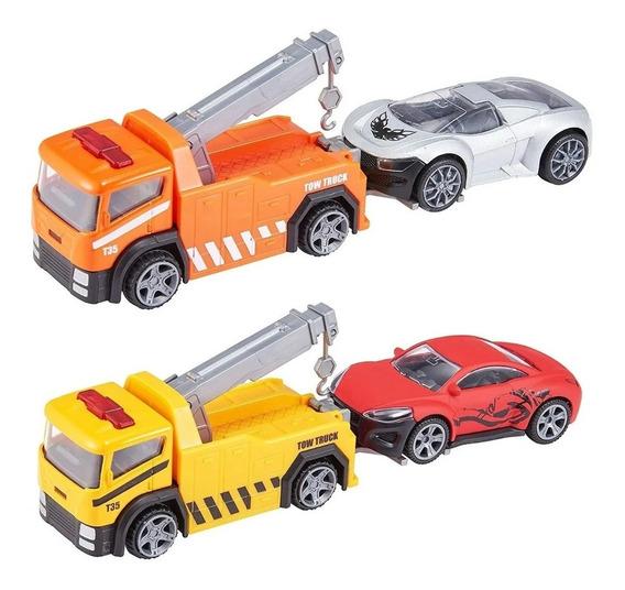Grua Con Auto Teamsterz 14091 Metal Coleccion Educando