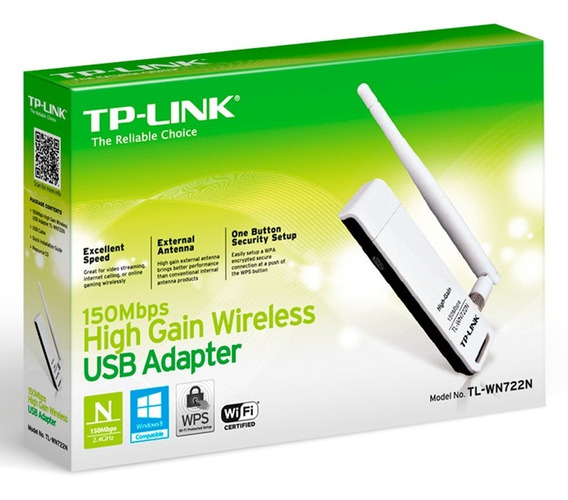 Placa De Red Wifi Tp-link Tl-wn722n Adaptador Usb 150 Mexx