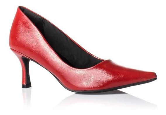 Scarpin Feminino Ramarim 1885101 Rubi Red Bico Fino Salto