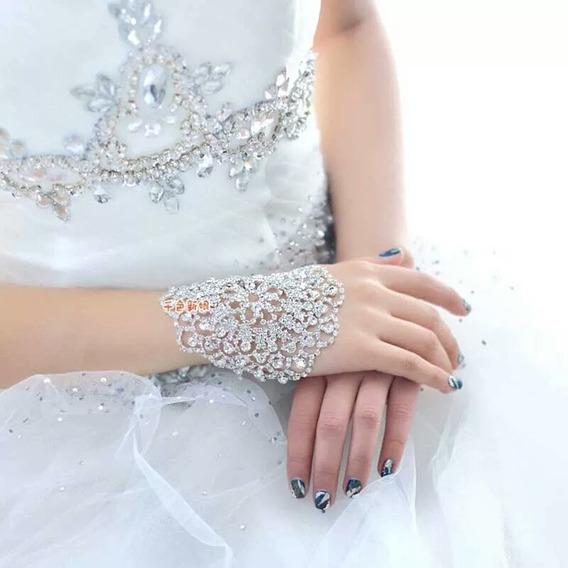 Pulseira E Bracelete Em Strass