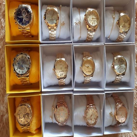 Relógio Feminino Ótimo Qualidade Ganha Brinde Frete Grátis