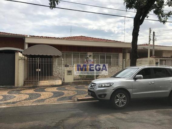 Casa Com 3 Dormitórios Para Alugar, 190 M² Por R$ 3.500,00/mês - Taquaral - Campinas/sp - Ca1460