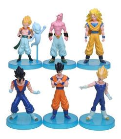 Kit 6 Figure Action Bonecos Dragon Ball Z Vegeto Gohan Goku