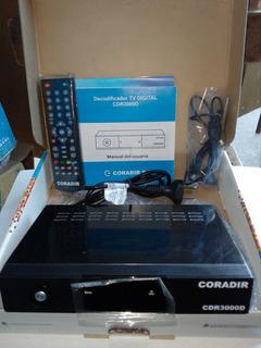 Decodificador Coradir Crd3000d Completo Con Antena Tda