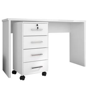 Mesa Para Computador Escrivaninha Com Gaveteiro Gávea Branco