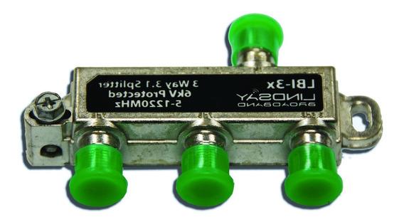 Splitter,derivador 3 Salidas 1220mhz