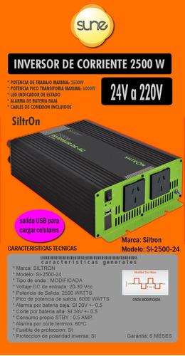 Energía Solar Inversor Onda Modificada 24v 2500w