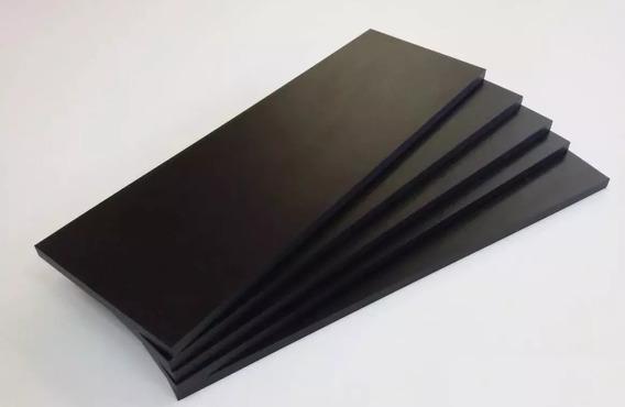 04 Prateleiras Mdf 15mm Preto 136x50 - 1,36mt X 0,50mt