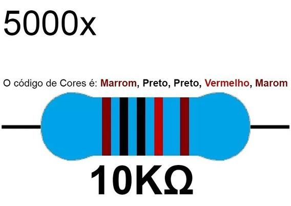 5000 Resistor 10k 1/4 W 1% Azul Led 12v 5v Arduino Raspberry