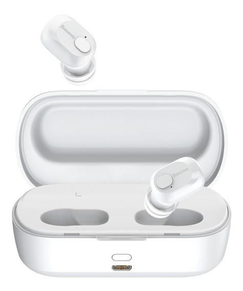 Fone De Ouvido Bluetooth 5.0 Baseus W01 6h Música 2000mah