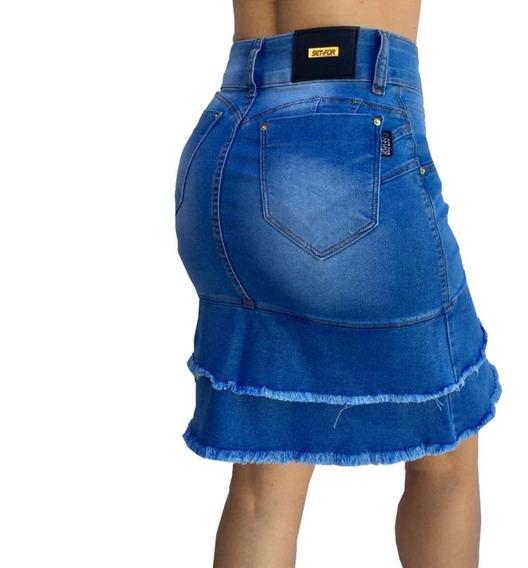 Saia Jeans Secretaria Set For Estilo Titanium