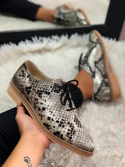 Zapatos De Cuero Reptil
