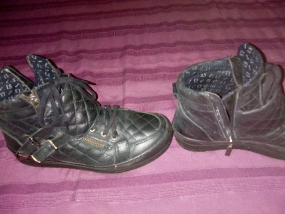 Zapatillas De Cuero Negras Nuevas.ledy Stor