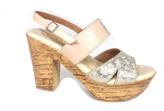 Sandalia Gina Ferrari Mujer Acolchado Cuero Zapato Confort
