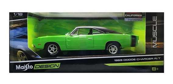 Dodge Charger R/t 1969 Escala 1/18