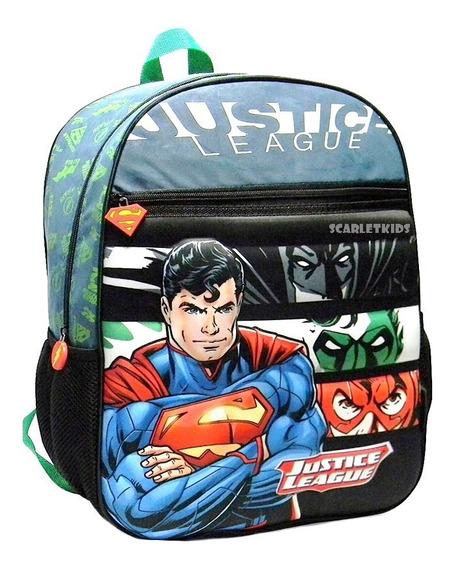 Mochila Espalda Superman 16 Pulgadas Nene Dc Orig Primaria