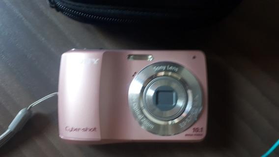 Máquina Fotográfica Rosa E Outra Cinza Cybet Shot Sony 80,00