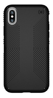 Funda Speck Presidio Grip Para iPhone X, Xs Black