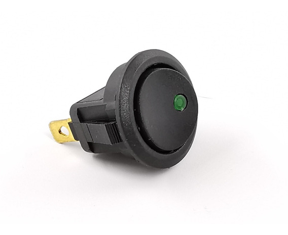 Switch Interruptor 1 Paso Tecla Con Luz 16 A Redondo
