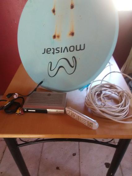 Movistar Tv Con Su Antena Control Y Cable