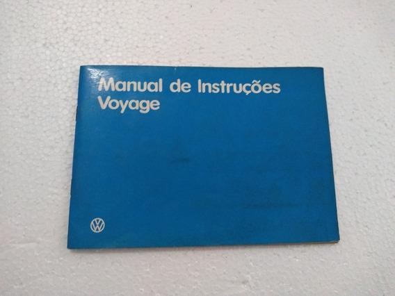 Voyage Ano 87 Manual Original Em Branco