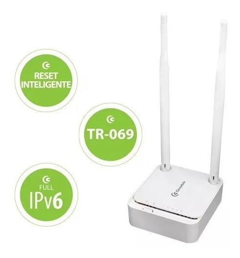 Roteador Wirelless Wr-3000ls 300mbps 5dbi 2 Antenas Greatek
