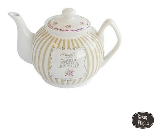 Tetera De Porcelana Deco Vintage 1000 Cc
