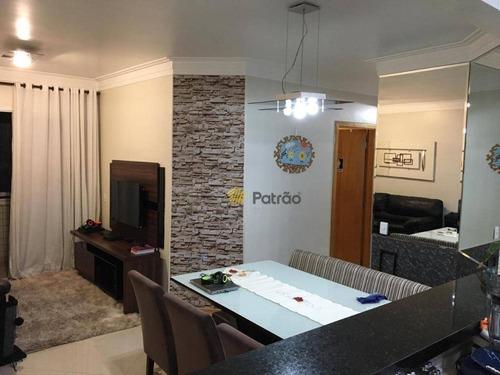 Apartamento Com 3 Dormitórios À Venda, 78 M² Por R$ 500.000,00 - Vila Baeta Neves - São Bernardo Do Campo/sp - Ap2644
