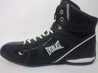 Tenis Everlast Bell 1 Negro Profesional Box Gym Lucha Pesas
