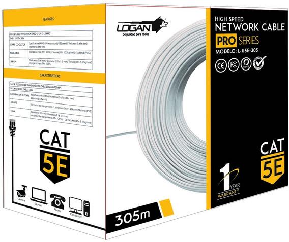 Cable Utp Cat 5e Bobina De 305 Mts Rj45 Cctv Redes Internet