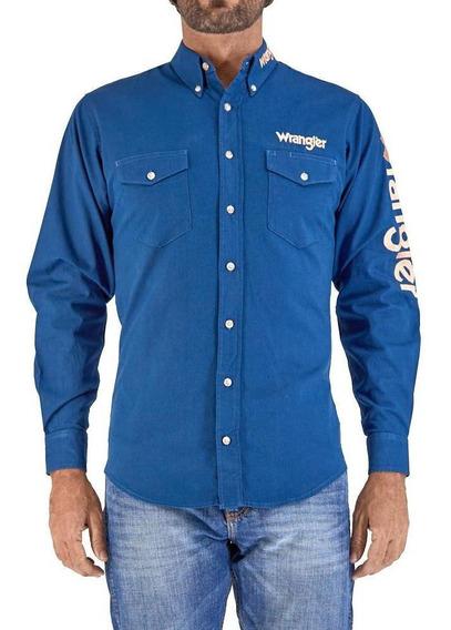 Camisa Vaquera Wrangler Hombre Manga Larga N04