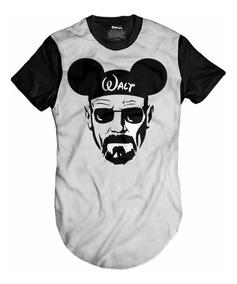 Camisa Mouse Camiseta Breaking Bad Oversized Longline Swag
