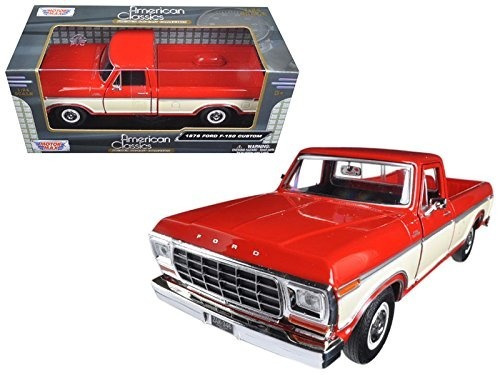 1979 Ford F-150 Pickup Red / Cream 1:24 Scale Diecast Truck