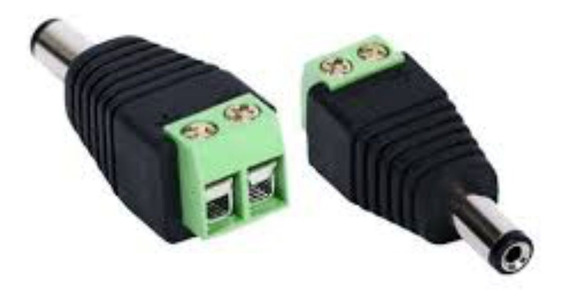 Conector Adaptador Plug P4 Macho Com Borne P/ Fixação De Fio