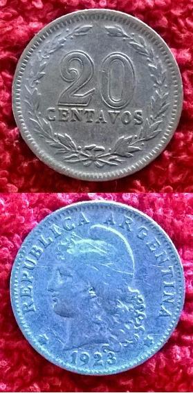 Argentina 20 Centavos 1923. Cuproniquel.