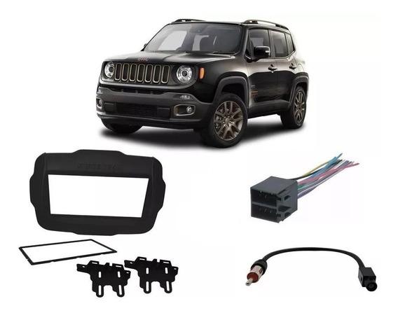 Moldura 2din Jeep Renegade Pcd + Chicotes Renegade 2018 A 19