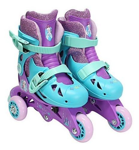 Playwheels Frozen Glitter Convertible 2 En 1 Patines, Junior