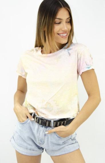 Remera Mujer Batik Color Pastel - Moda 2020