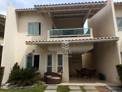 Casa Duplex Com 4 Quartos À Venda, 153 M², Varanda, 4 Vagas, Área De Lazer, Cond. Fechado - Sapiranga - Fortaleza/ce - Ca0275