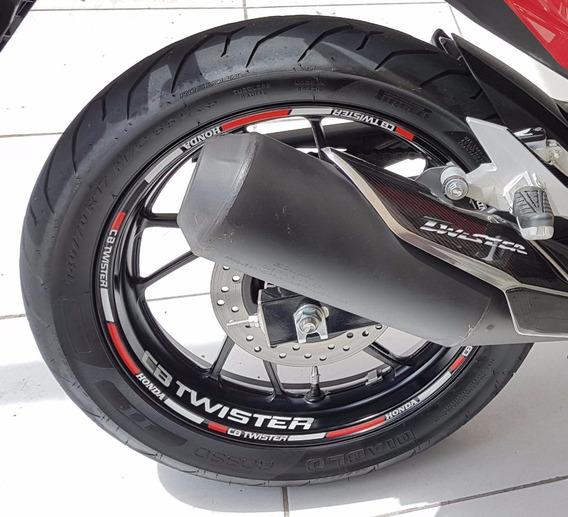 Friso Roda Adesivo Cb250 Twister Refletivo Não Desbota