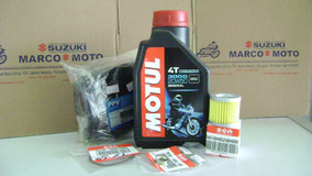 Kit Oleo Motul 3000,filtros Ar/oleo,vedadores Suzuki Yes 125