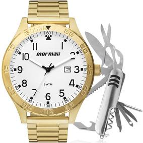 Relógio Mormaii Masculino Flip Dourado Original Mo2115an/4c