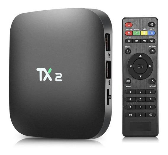 Tv Box Aparelho 4k Tx2 Transforma Em Smart Tv Android