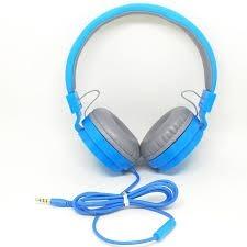 Fone De Ouvido Grande Azul Com Microfone Em 6x Sem Juros